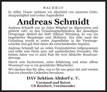 Zur Gedenkseite von Andreas Schmidt